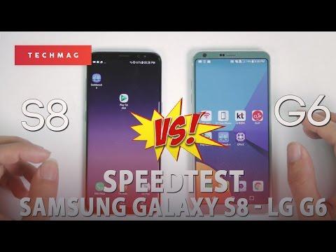 """[Speedtest] Tốc độ giữa Samsung Galaxy S8 vs LG G6: """" Exynos 8895 đè bẹp Snapdragon 821??!"""""""