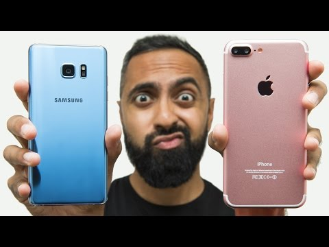 Thumbnail: iPhone 7 Plus vs Samsung Galaxy Note 7