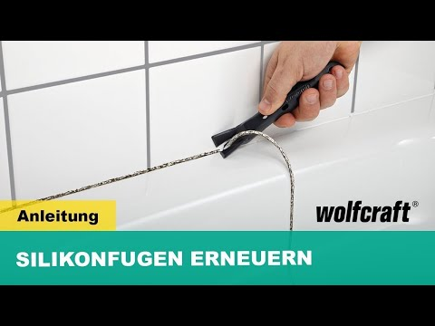 wolfcraft anleitung erneuerung von silikon fugen art nr 4364000 youtube. Black Bedroom Furniture Sets. Home Design Ideas