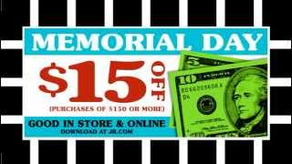 J&R Memorial Day $15 Coupon (2013 TV Commercial)