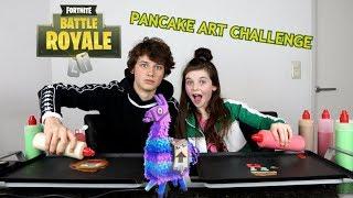 FORTNITE PANCAKE ART CHALLENGE met HUGO - Bibi