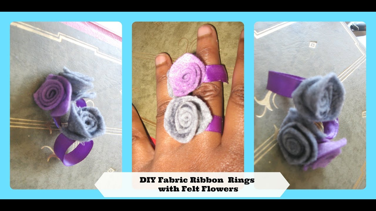 How To Make A Ring Using  Ribbon