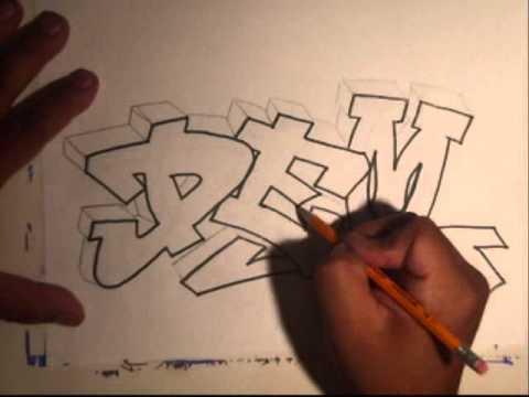 Learn How To Draw Graffiti Graffiti Name
