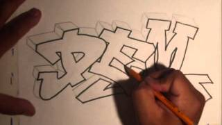 Download Video Learn How To Draw Graffiti graffiti name  - Tutorial easy MP3 3GP MP4