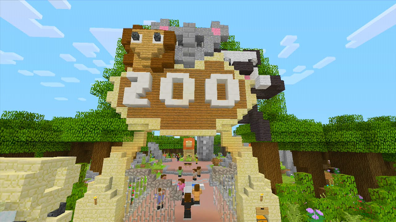 Minecraft XBOX - Hide and Seek - The ZOO! W/ DOWNLOAD ...