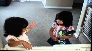 twin girl fight