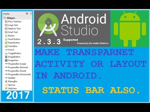 How To Make Transparent Activity In Android Change Status Bar