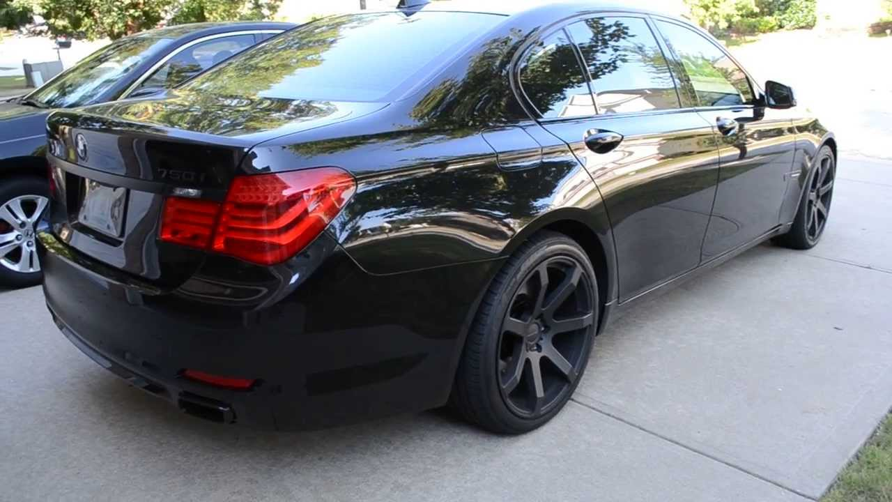 Bmw 750i Alpina B7 Front Lip And Giovanna Wheels Youtube