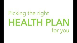 Pick the right health plan for you! Provided in ASL