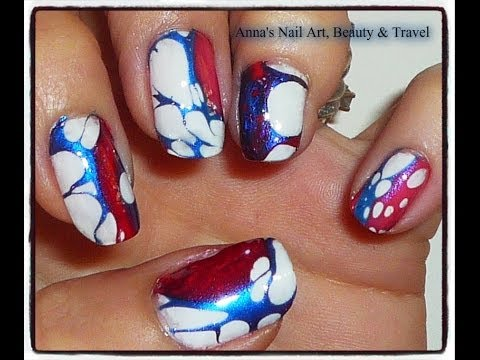 Red white blue nail art tutorial youtube red white blue nail art tutorial prinsesfo Images