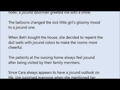 Jocund word in sentence with pronunciation youtube jocund word in sentence with pronunciation m4hsunfo