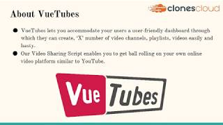 VueTubes - YouTube Clone Script for the video sharing website