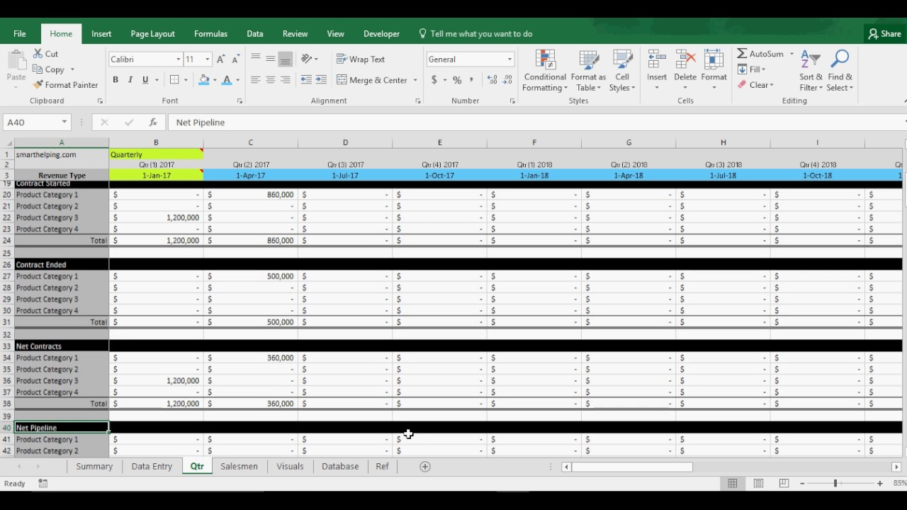 Sales Pipeline Tracking Template: CRM in Excel - YouTube