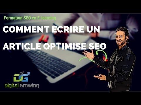 Comment écrire un article optimisé SEO - Exemple concret