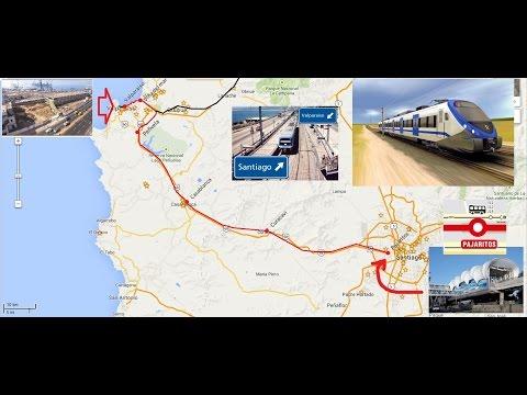 Para nuevo Bala tren Santiago  Valparaiso