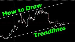 How to Draw Trend lines - Cryptocurrency Trading for Beginners