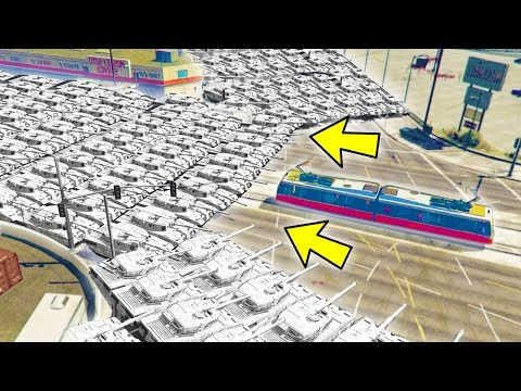 CAN 100+ TANKS STOP THE TRAM IN GTA 5?