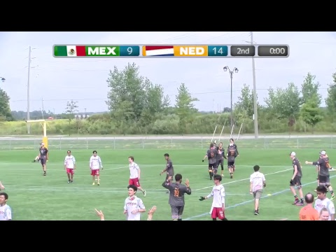 2018 World Jr. Ultimate Championships | Game 6 - Men: Netherlands vs Mexico | Aug. 20
