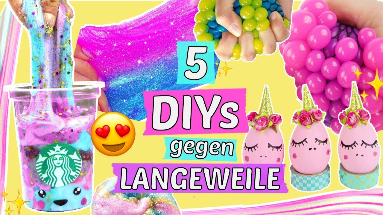 5 coole diys gegen langeweile einhorn slime squishies. Black Bedroom Furniture Sets. Home Design Ideas