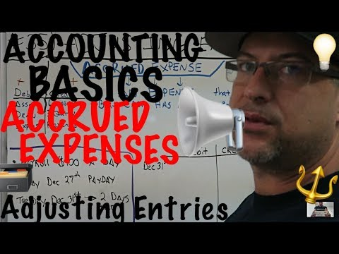 Accounting for Beginners #35 / Adjusting Entries / Journal Entries / Accrued Expense