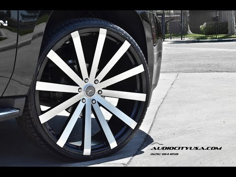 Gmc Yukon 2014 On 28 Quot Velocity Vw 12 Black Machine Youtube