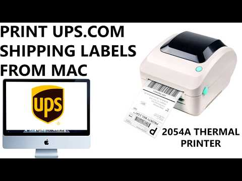 How to Print UPS Shipping Labels from UPS com Website via