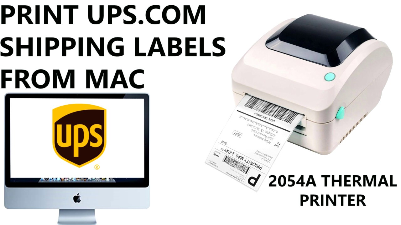 How to Print UPS Shipping Labels from UPS com Website via Web Browser on  Mac Setup Tutorial Guide