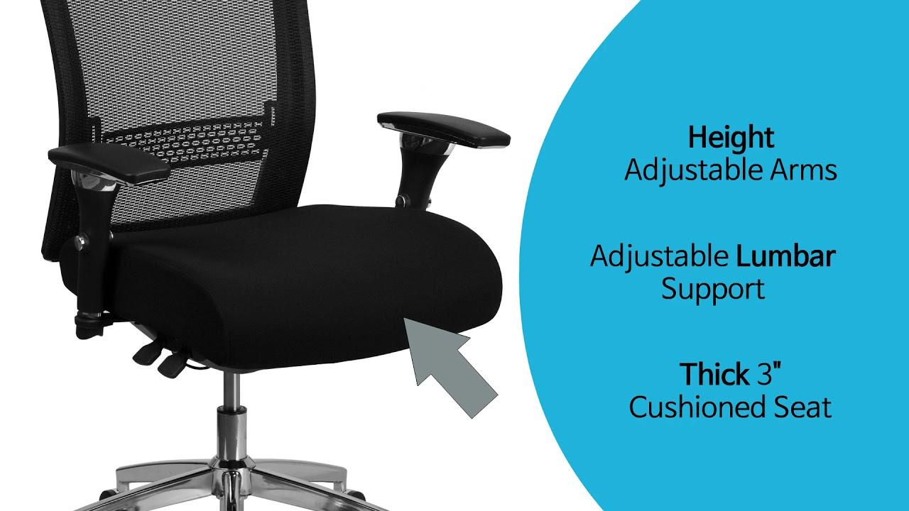 Husky Office 24 7 Multi Shift 300 Lb Functional Mesh Chair