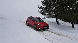 2018 Subaru XV: light off-road on snow + EyeSight
