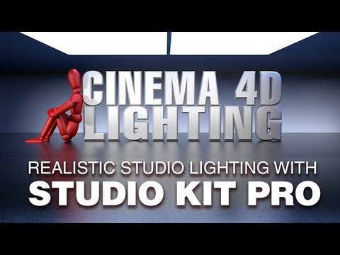 Cinema 4D Lighting : Realistic lighting made easy with Studio Kit Pro by C4 Depot