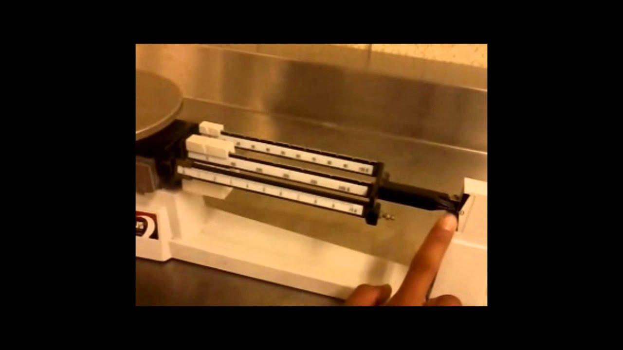 Laboratorio de Qumica Balanza Granataria y Digital  YouTube