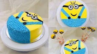 MINIONS CAKE  CAKE FOR KIDS  CARTOON CHARACTER MINIONS CAKE RECIPE MALAYALAM  NOORAS SECRET EATS