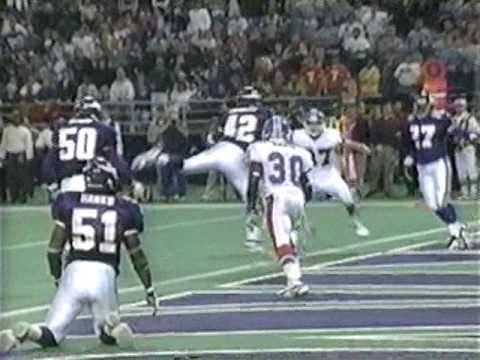 Ed McCaffrey catches tipped ball for game winning TD (1996 @ Minnesota)