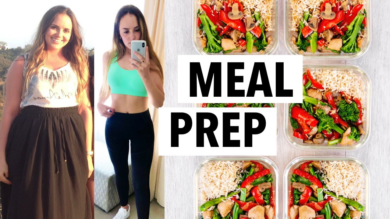 WEIGHT LOSS MEAL PREP FOR WOMEN 2020 (1 WEEK IN 1 HOUR)   how I lost 10+ lbs