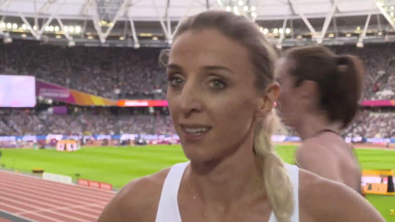 Angelika Baumgart wch 2017 london - angelika cichocka pol 1500 metres heat 1