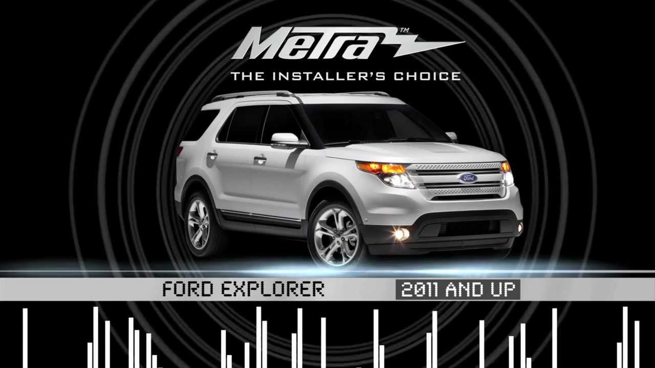 maxresdefault metra ford explorer 2011 & up kit 99 5828ch youtube