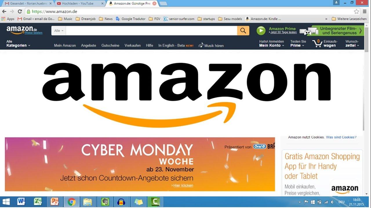 bestellen bei amazon online einkaufen youtube