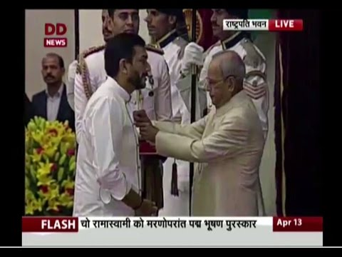 Chef Sanjeev Kapoor honoured with Padma Shri