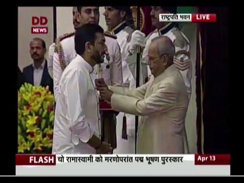 Chef Sanjeev Kapoor honoured with Padma Shri