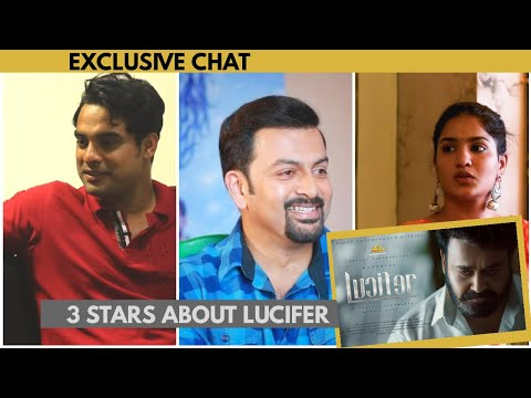 Lucifer Show !! 3 Stars About Lucifer & Mohanlal  - Prithviraj | Tovino Thomas | Saniya Iyyappan