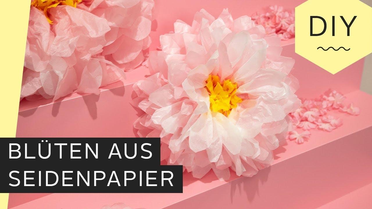 Beliebt DIY: Blüten aus Seidenpapier basteln | Roombeez – powered by OTTO GC77