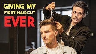 I Just Gave My FIRST HAIRCUT EVER   BluMaan Mens Haircut 2019