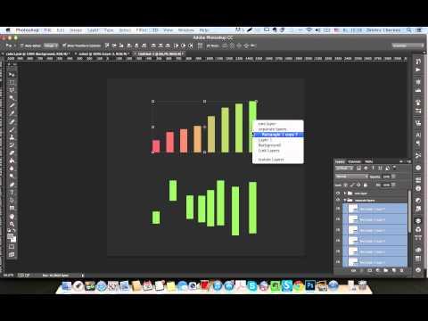 Как быстро выровнять много объектов или слоев в Photoshop CC
