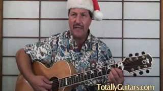 Learn to play Silver Bells Holiday acoustic guitar lesson