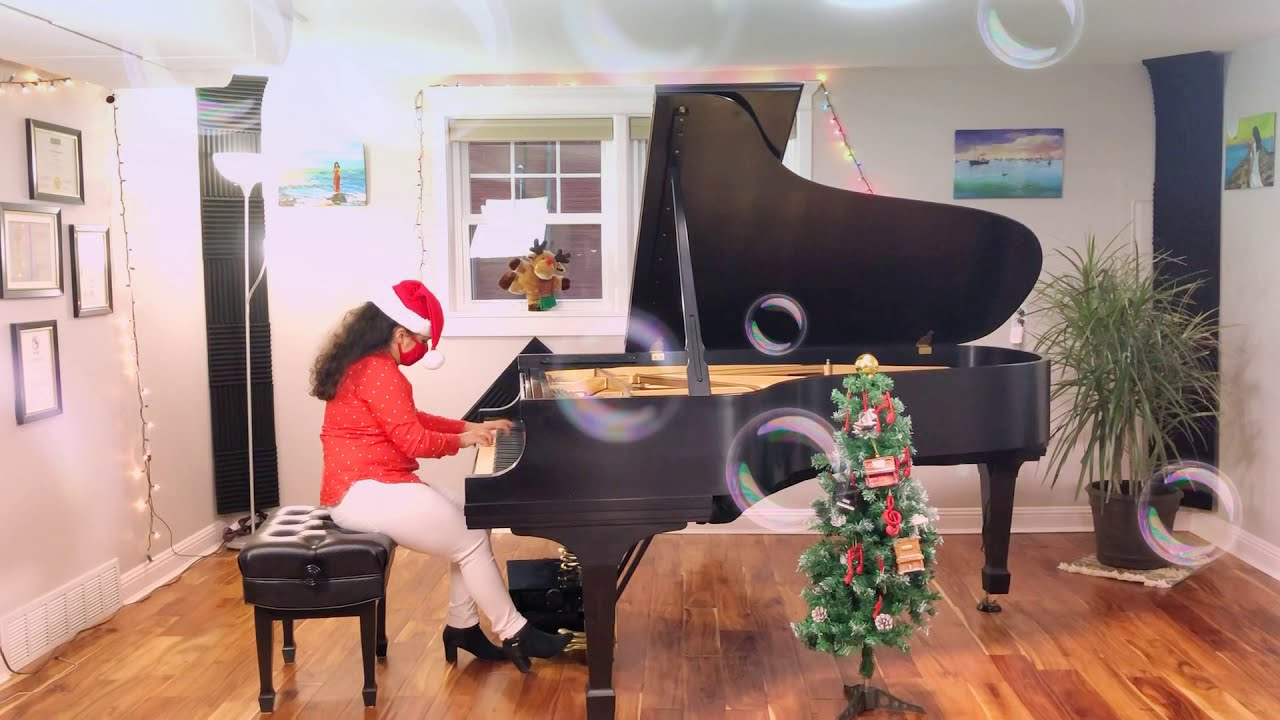 """Sleigh Riding"" on The Piano"