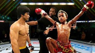 """PS5   Bruce Lee vs. Young Warrior """"Muay Thai"""" (EA Sports UFC 4)"""