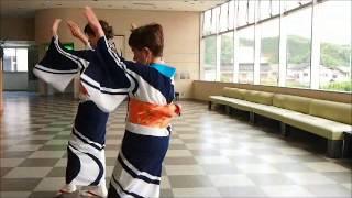 8/4に三朝温泉で行われるキュリー祭の中の「わいわいパレード」で踊られ...