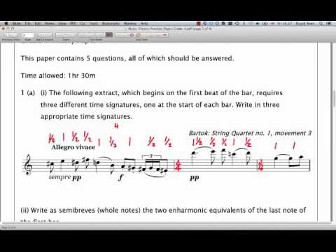 ABRSM Music Theory Grade 4 | Question 1