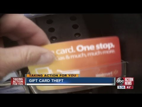 Thieves have found a way to empty Wal-Mart gift cards