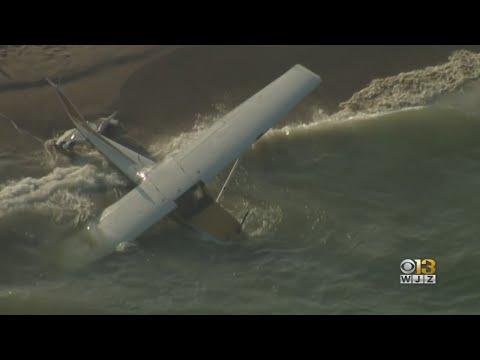 St. Pierre - Plane Makes Water Landing Just Off Shore In Ocean City